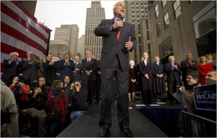 McCain in Rockefeller Center (NY Times)
