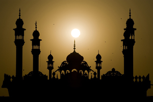 The sun sets over a mosque in Islamabad. (Nicholas Asfouri, AFP/Getty Images)