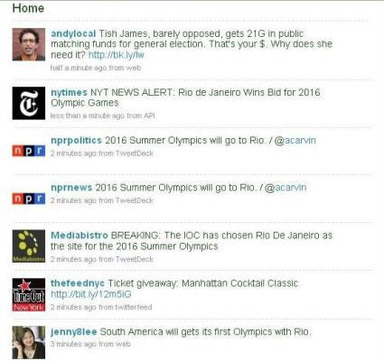 Rio wins bid, Tweeters freak.
